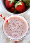 Roasted strawberry protein smoothie
