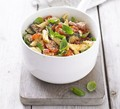 Roasted summer veg & pancetta pasta