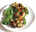 Roasted sunchokes with brown butter-cider vinaigrette