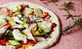 Rosemary, Taleggio, and leek pizza