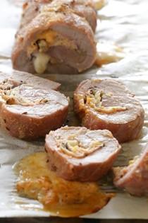 Rueben stuffed pork tenderloin