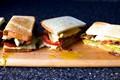Runny egg BLT sandwich
