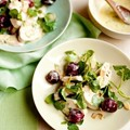 Salad of chicken, cherries, watercress and almonds with tarragon