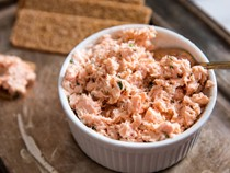 Salmon rillettes with chives and shallots