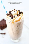 Salted caramel brownie milkshake