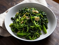 Sautéed broccoli rabe with garlic and chili flakes
