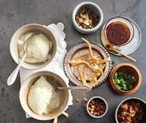 Savory tofu pudding (Dou hua)