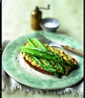 Scotch woodcock and asparagus on toast