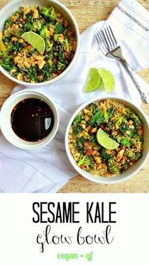 Sesame kale glow bowl
