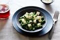 Sesame-miso asparagus and tofu salad