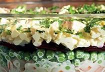 Seven-layer Russian salad