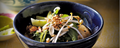 Shan warm chickpea 'tofu' noodle soup