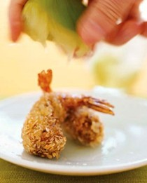"""Shrimp and black-eyed pea """"croquettes"""""""