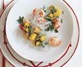 Shrimp and mango salad with glass noodles
