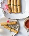 Shrimp and pork spring rolls