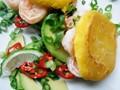 Shrimp arepas (Sunday Brunch)