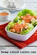 Shrimp cocktail lettuce cups