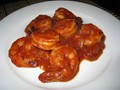 Shrimp in salsa (Camarones en salsa)