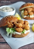 Shrimp po' boy sandwiches