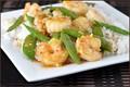 Shrimp stir-fry with sugar snap peas