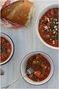 Shrimp with feta & tomatoes (Garides saganaki)