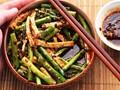 Sichuan-style asparagus and tofu salad