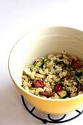 Simple asparagus ribbon pasta salad