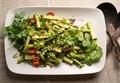 Simple spicy asparagus in a wok