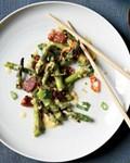 Singaporean sautéed asparagus with ginger