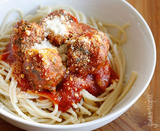 Skinny Italian Turkey Meatballs Recipe — Dishmaps