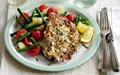 Slimming World's lemon and garlic chicken with a warm potato salad