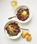 Slow-cooker smoky beef and bean chili