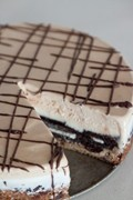 Slutty brownie ice cream cake