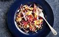 Smoked mackerel, spelt and beetroot salad