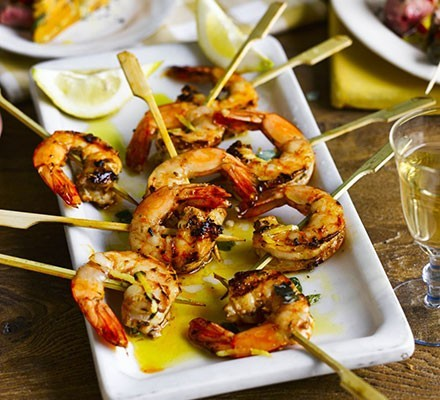 Grilled shrimp skewers with smoked paprika From the az daily star