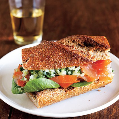 Open-Faced Salmon Sandwich With Sweet Mustard Sauce Recipes ...