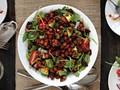 Smokehouse chickpeas 'n' greens salad from 'Salad Samurai' (Bake the Book)