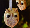 Snowy owl Christmas tree biscuits