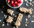 Soft baked cherry almond granola bars