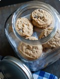 Soft peanut butter cookies with peanut butter-filled chocolate chips