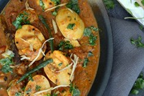 South Indian-style egg curry (Andhra egg curry)