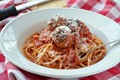 Spaghetti and wheatballs