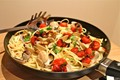 Spaghetti, vongole & blistered cherry tomatoes