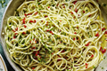 Spaghetti with garlic, oil and chilli