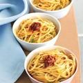 Spaghetti with zucchini and 'nduja (Spaghetti con salsa di zucchine e 'nduja)