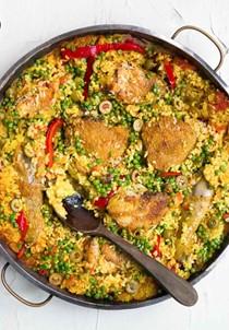 Spanish chicken with rice (Arroz con pollo)