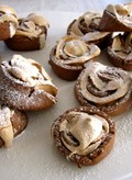 Spiced meringue and chocolate shortbread swirls