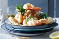 Spiced seafood fritto misto with aïoli