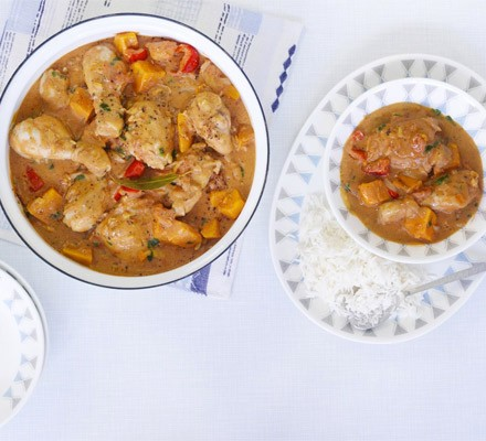 West African Chicken And Peanut Stew With Chiles, Ginger, And Green ...