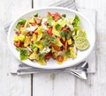 Spicy chicken, mango & jalapeño salad